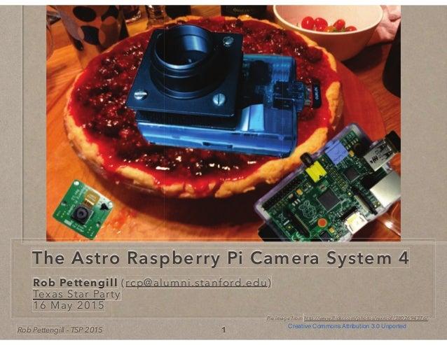 Rob Pettengill - TSP 2015 The Astro Raspberry Pi Camera System 4 Rob Pettengill (rcp@alumni.stanford.edu)Rob PettengillRob...