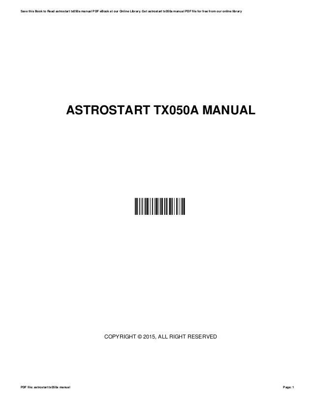 astrostart tx050a manual rh slideshare net astrostart model tx050a manual