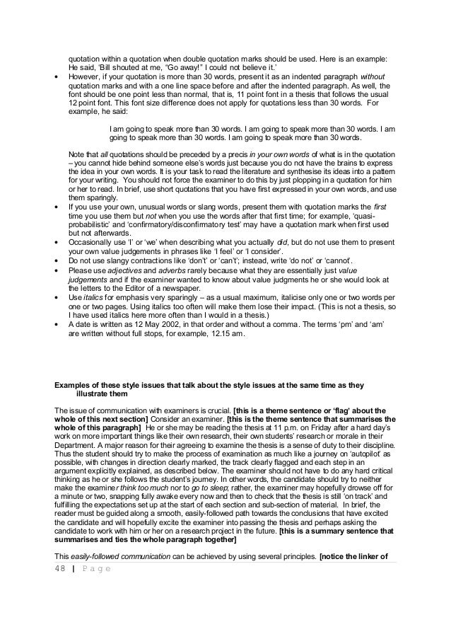A structured approach to presenting theses   notes for students and their supervisors  2012