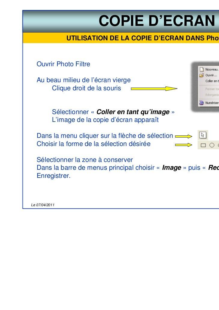 Astuce la copie d 39 cran for Copie ecran