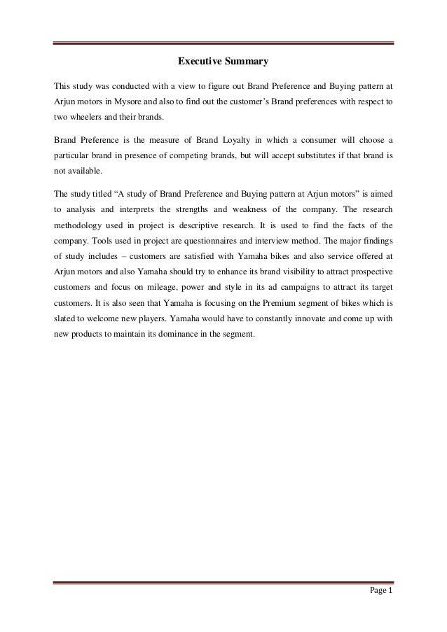 Two Wheeler Customer's Purchasing Pattern Essay Sample