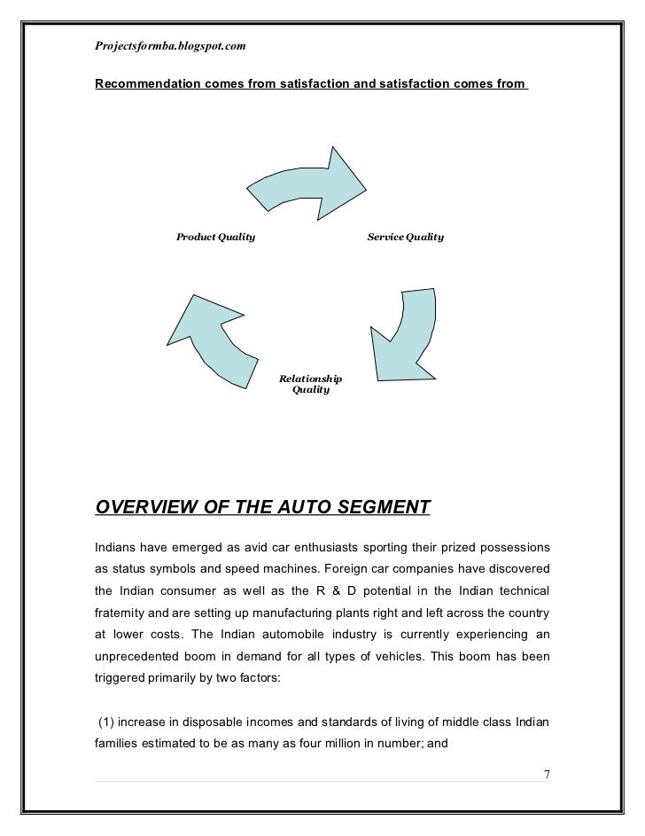 study of consumer behavior in automobile industry Key words: consumer behavior, automobile industry, customer  to study  the factors that influence the purchases of mahindra cars 2.