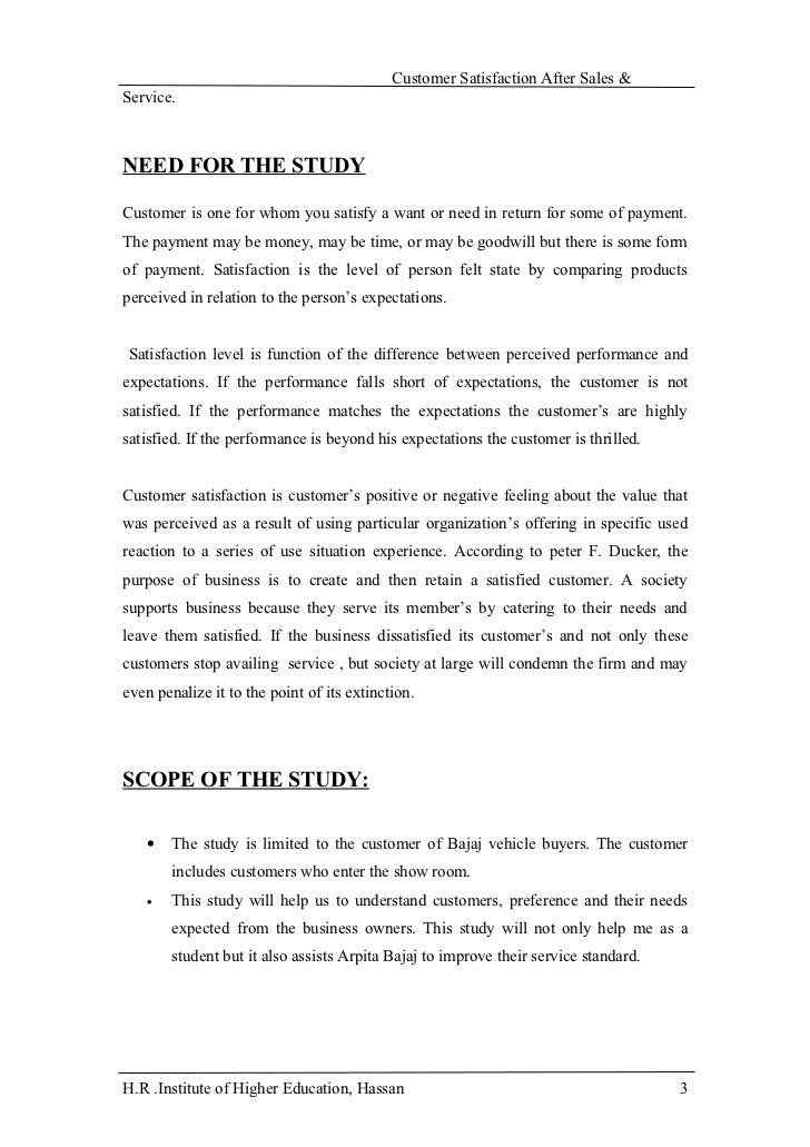 review of literature on customer satisfaction in departmental stores