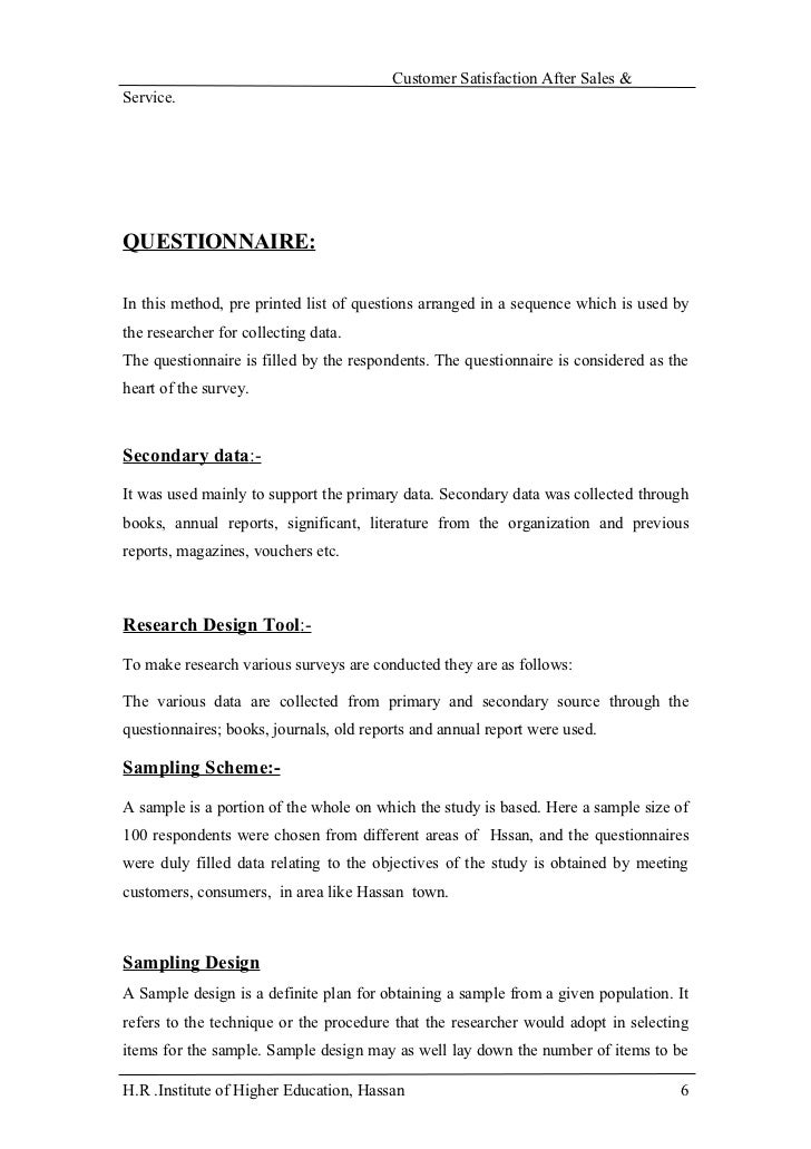 Sales Questionnaire Sample  CityEsporaCo