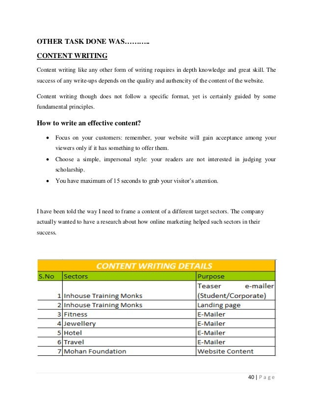 Mba Marketing Project Reports Pdf