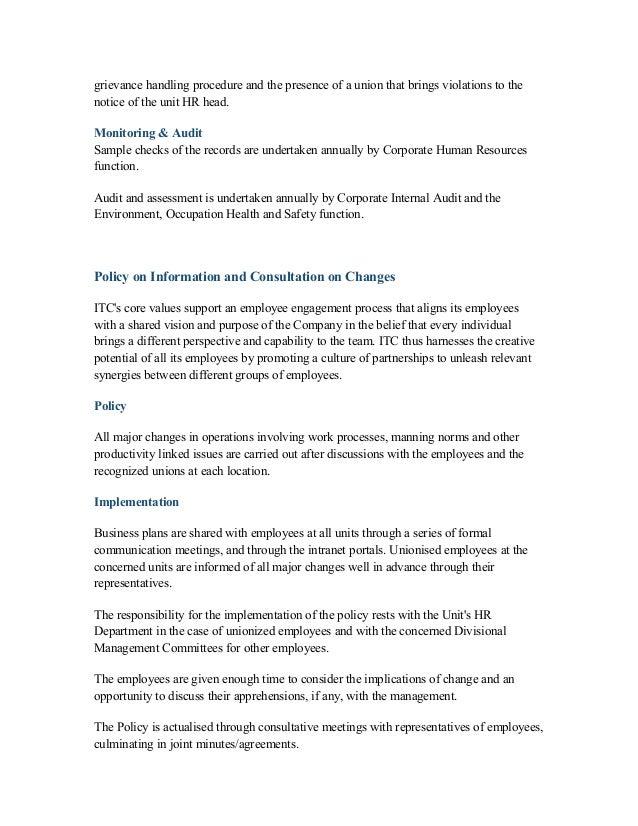 case study on employee engagement and performance appraisal itc maurya