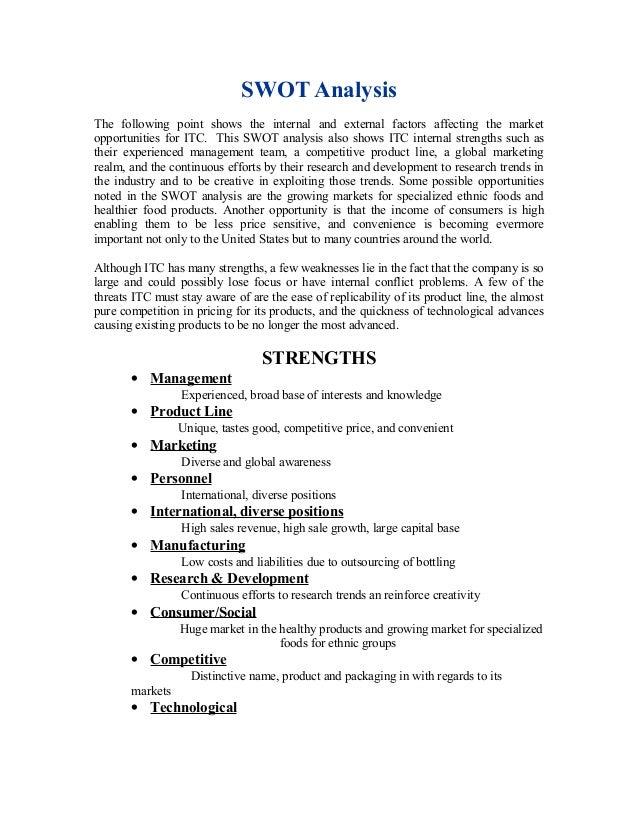 itc swot analysis Itc ltd swot analysis bac - download as pdf file (pdf), text file (txt) or read  online.