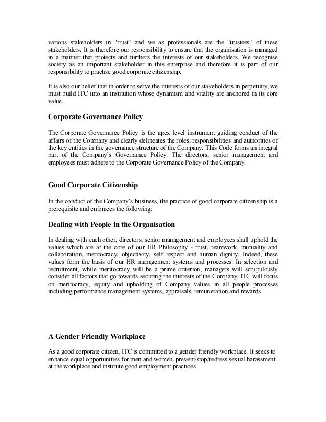 reaction paper of good governance