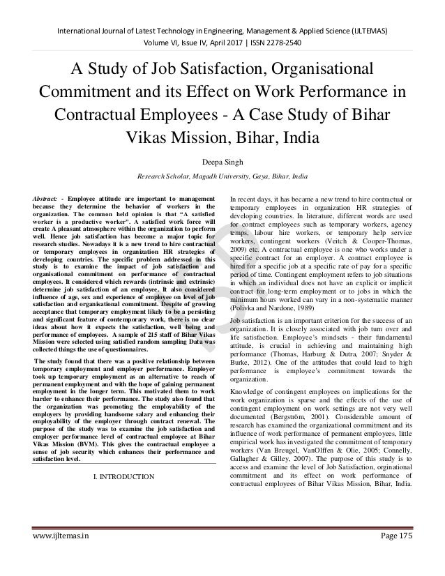 Participation in decision making  A case study of job satisfaction     the effects of job satisfaction towards employee turnover