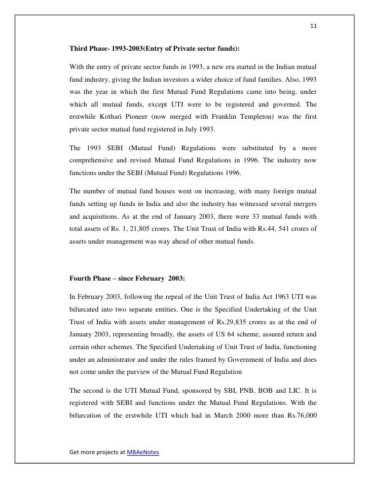 11Third Phase- 1993-2003(Entry of Private sector funds):With the entry of private sector funds in 1993, a new era started ...