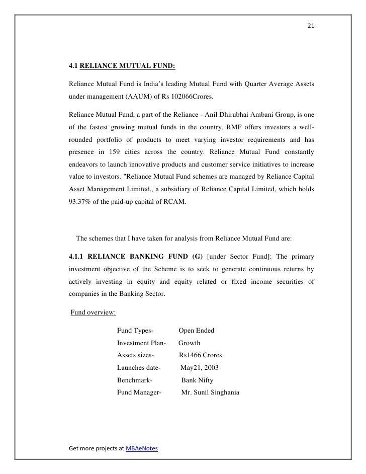 214.1 RELIANCE MUTUAL FUND:Reliance Mutual Fund is India's leading Mutual Fund with Quarter Average Assetsunder management...