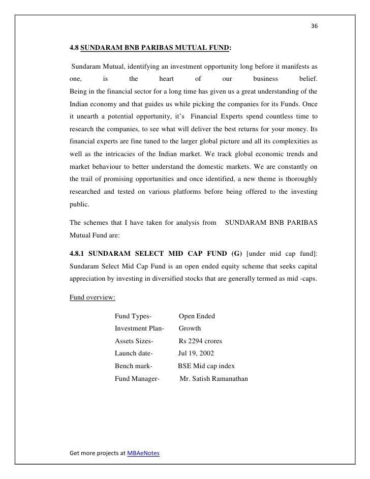 364.8 SUNDARAM BNB PARIBAS MUTUAL FUND:Sundaram Mutual, identifying an investment opportunity long before it manifests aso...