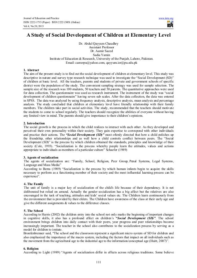 Journal of Education and Practice ISSN 2222-1735 (Paper) ISSN 2222-288X (Online) Vol.4, No.20, 2013  www.iiste.org  A Stud...