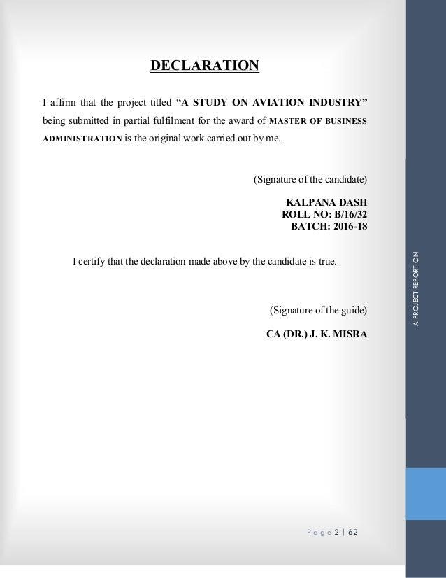 A Study on Aviation Industry (InterGlobe Aviation Ltd & Spicejet Ltd)