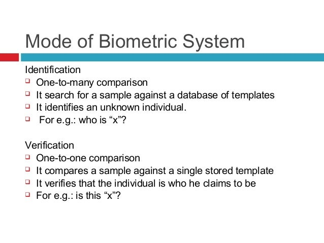 an introduction to the analysis of biometric system Much of that analysis remains relevant to current biometric systems, and this report does not have much to add on privacy other than exploring some of the social and cultural implications of.