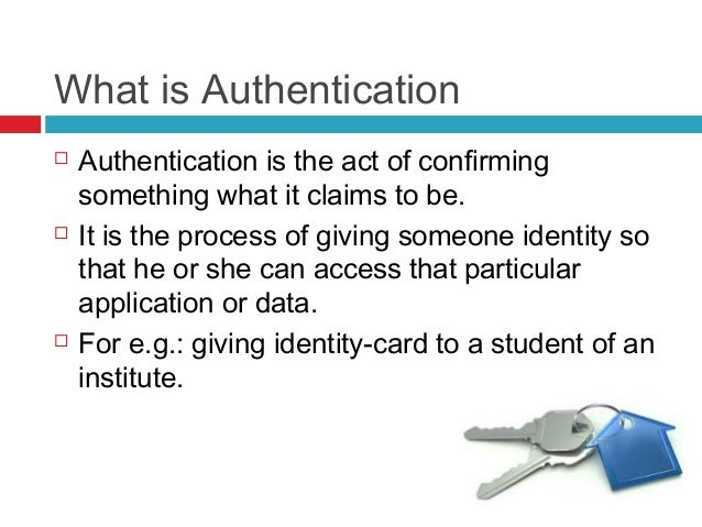 About authentication