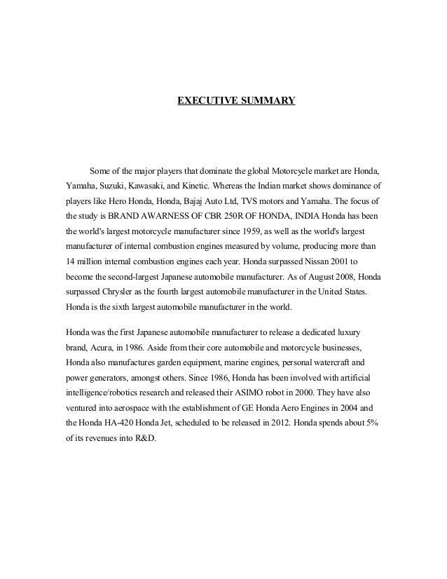executive summary of honda company Autonation named lance iserman coo and executive vice president of sales,  autonation names iserman coo, executive vice president of sales  the company.