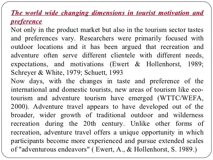Adventure Tourism Trend Report