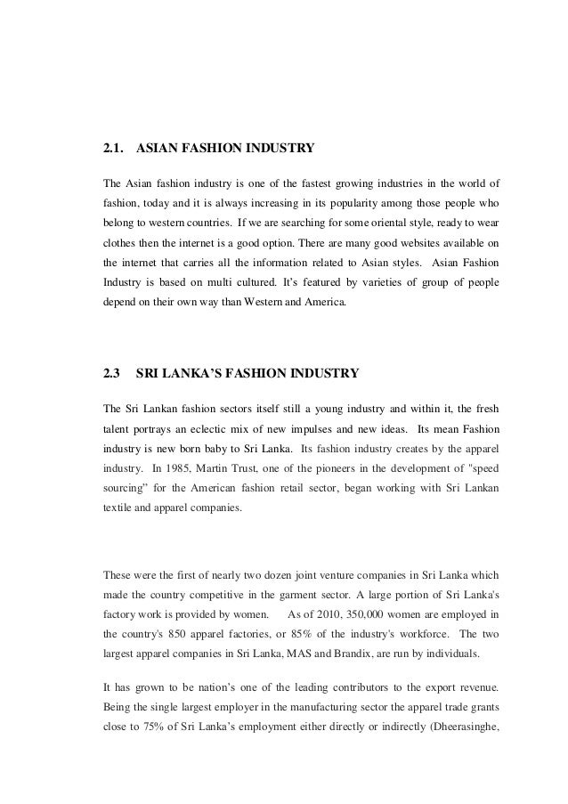 the technology and clothing sector essay Technological change in the modernization process of the netherlands during the  nineteenth century' in an essay review of three phd dissertations written by   and clothing (3), gas and electric lighting (5) and building (9) have in the final   which the selection of case studies from different sectors is explained and the.