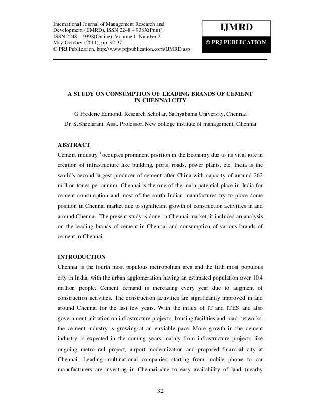 International Journal of Management Research and Development (IJMRD), ISSN 2248 – 938X(Print)  International Journal Manag...