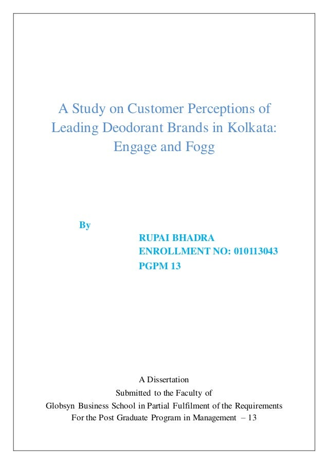 A study on customer perceptions of leading deodorant brands