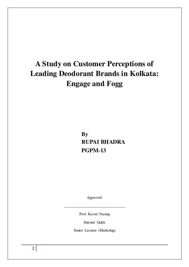 A study on customer perceptions of leading deodorant brands in kolkata
