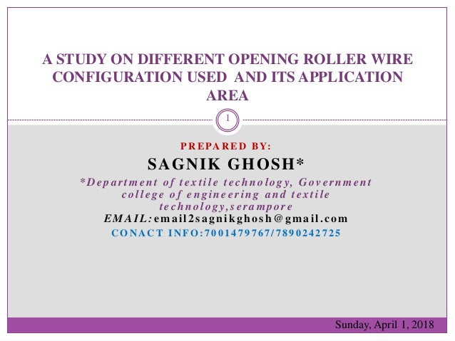 A study on different opening roller wire configuration on