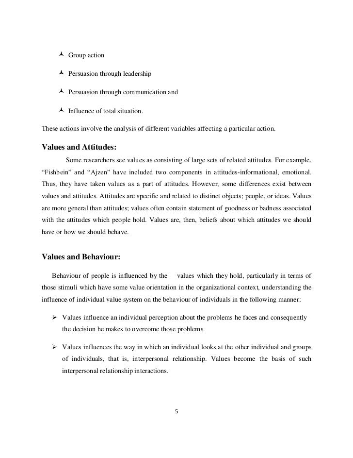 Project on Employee Attitude Research Paper - 5723 Words