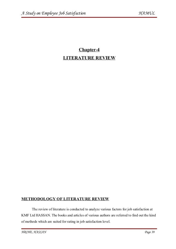 literature review on employee satisfaction