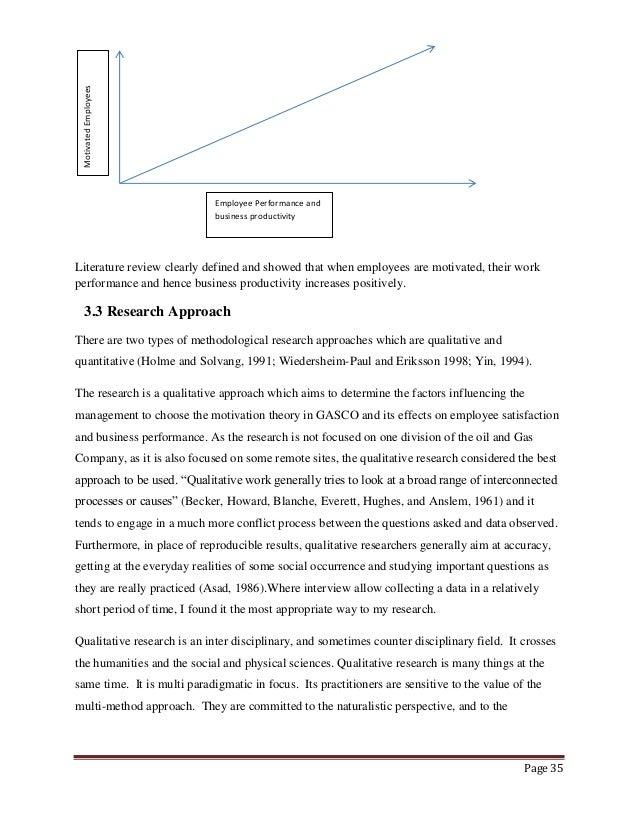 literature review effect motivation employee performance