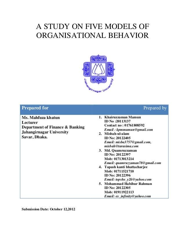 Management Concepts & Organisational Behaviour Unit – I ...