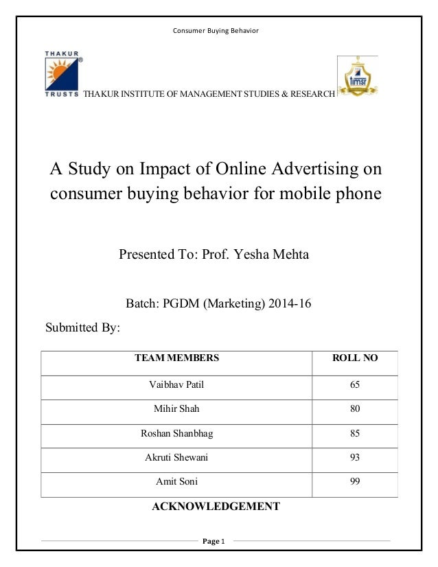 consumer behaviour thesis An investigation into consumer behaviour towards the purchase of new luxury cars in thèse findings enable this thesis to conclude that buyer perceptions of new.
