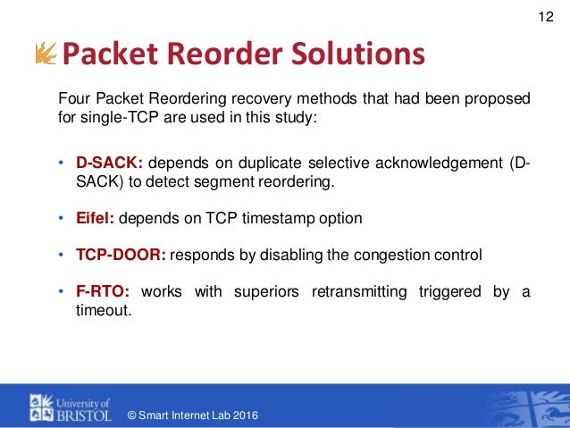 A Study on MPTCP for Tolerating Packet Reordering and Path Heterogene…
