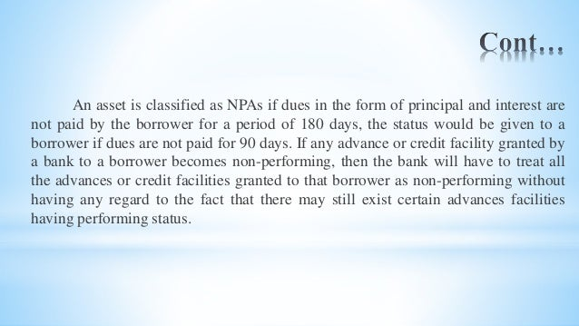 A study on non performing assets of financial institutions International Banker Page