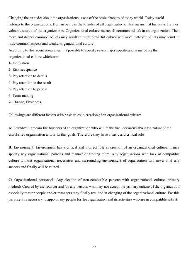 models of organisational culture management essay Essay question culture can be both an asset and a liability to an organisation  continue reading principles of management - organisational culture.