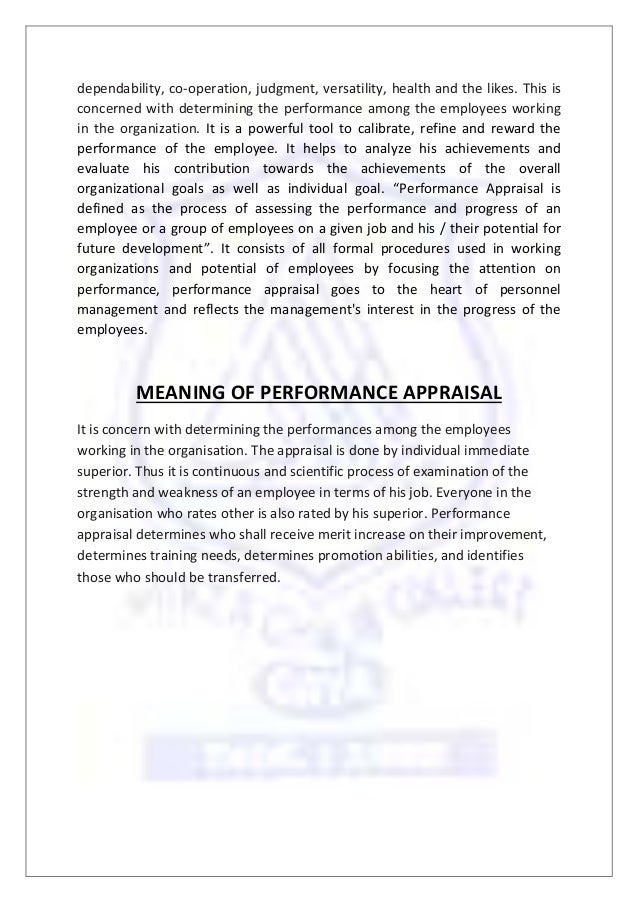 thesis on human resource performance appraisal Bachelor thesis: employee motivation and employee performance the thesis is a literature research and thus a review by directed and motivated human.