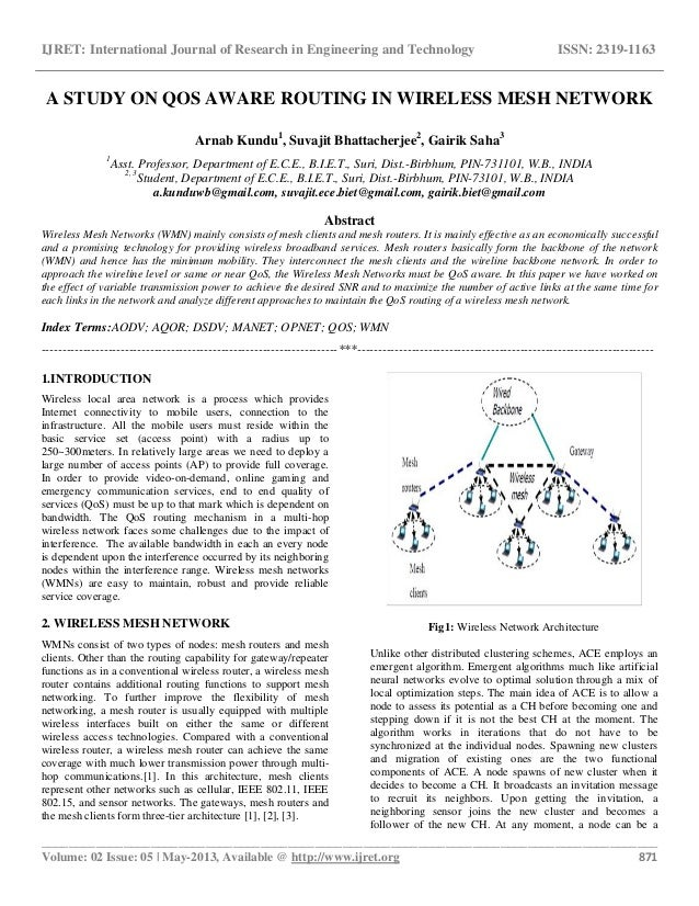 research paper on wireless security A review of 5 cool wireless research projects focused on municipal wi-fi  a  paper called hardware-rooted trust for secure key management.