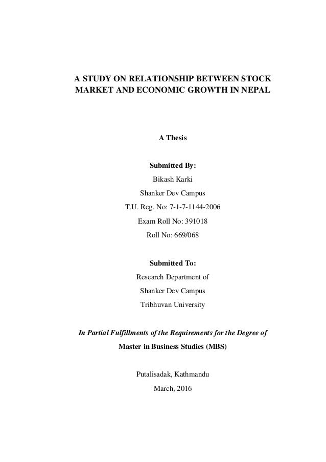 stock market performance and economic relationship Dimson, marsh and staunton (dms) studied the relationship between long- term  stock market returns and long-term gdp growth1 their sample included.