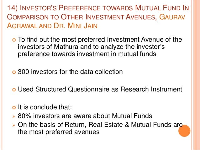 investment behavior of mutual fund investors in india+research papers Information of mutual funds investments equity mutual funds fund review: invesco india a mutual fund collects money from investors and.