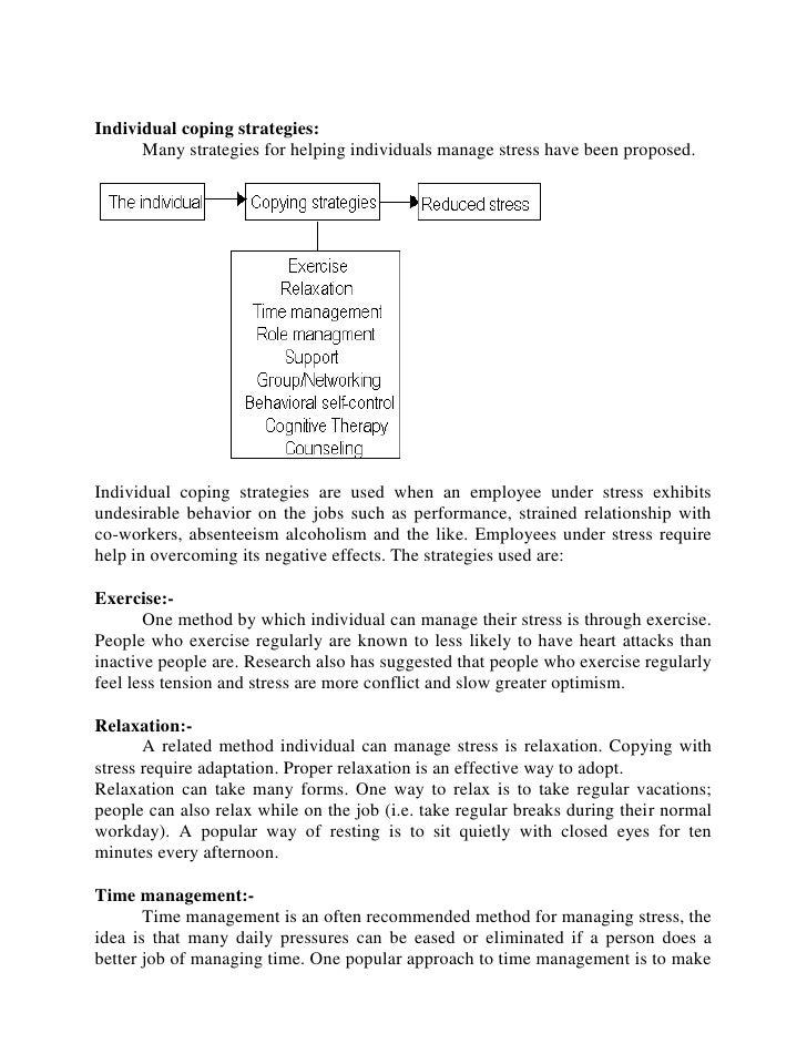 Research paper on stress and job performance