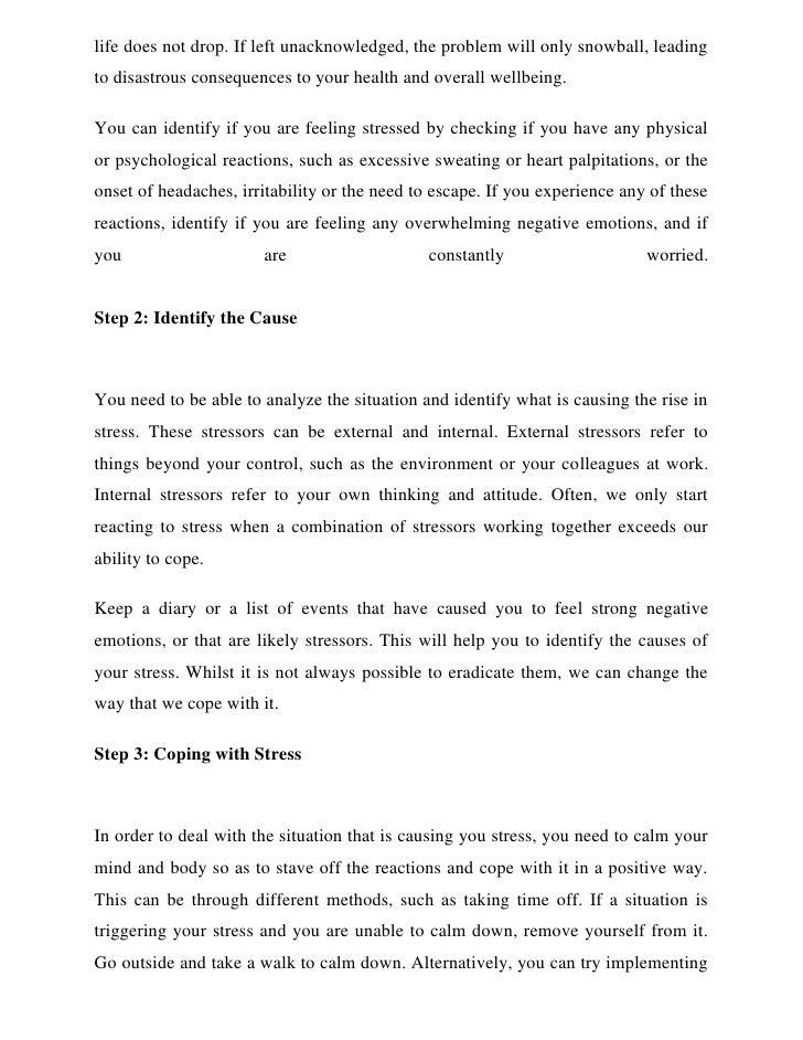 problem statement of stress among students