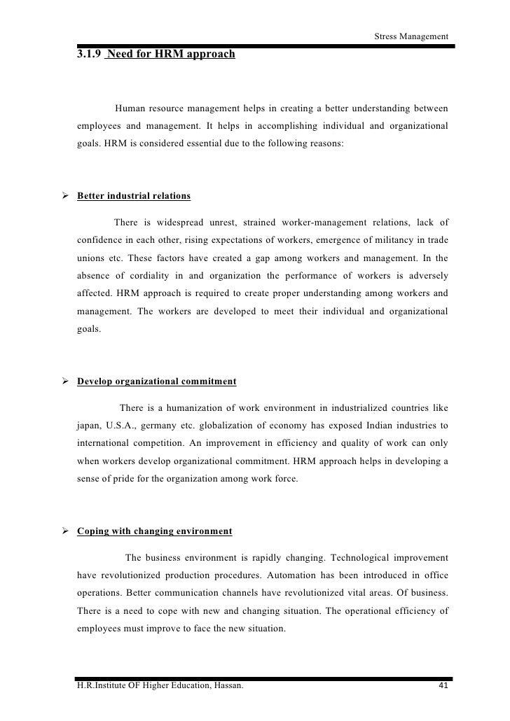 A Study On Stress Management Of Employees At Syndicate Bank