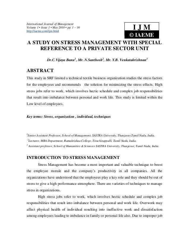 International Journal of ManagementVolume 1 • Issue 1 • May 2010 • pp. 1 – 16http://iaeme.com/ijm.html                    ...