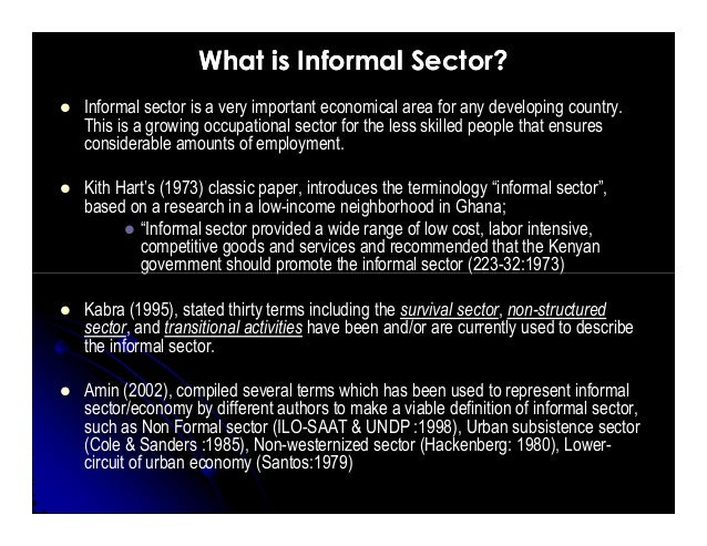 ethnographic study of the informal sector The focused ethnographic study  the global alliance for improved nutrition has worked with researchers  informal economic sector key.