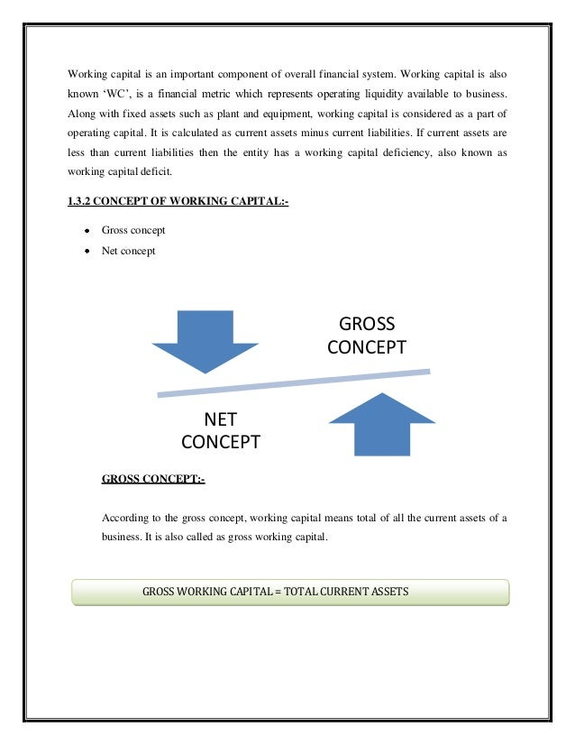 study on working capital management The study was done to know the comparative position of steel companies in working capital management and applying various analyses such as size-wise analysis, ratio analysis & operating cycle .