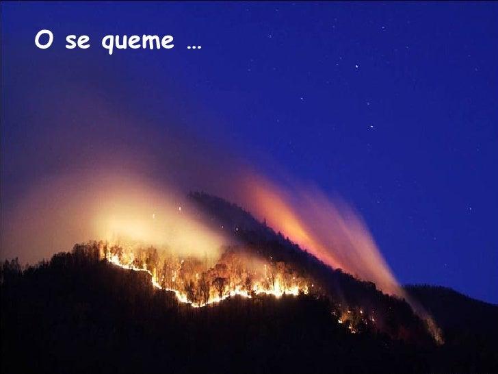O se queme …