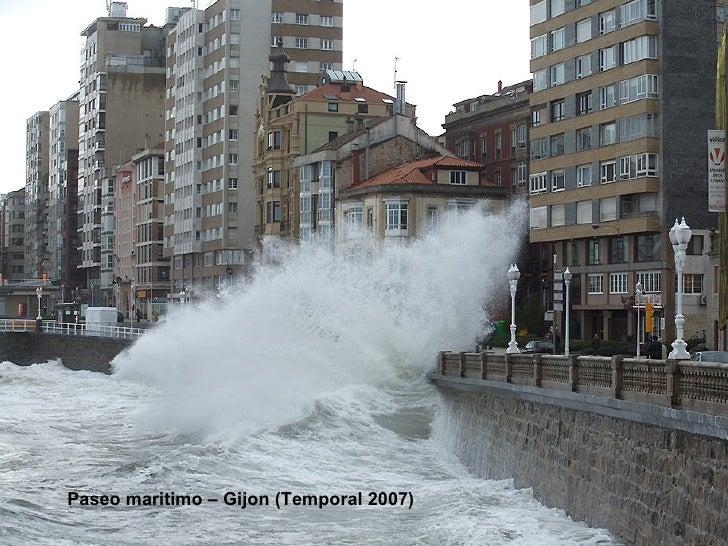 Paseo maritimo – Gijon (Temporal 2007)