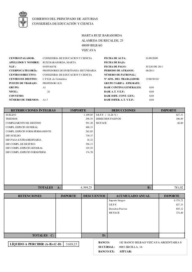 Asturias nomina Formato de nomina para pago de sueldos