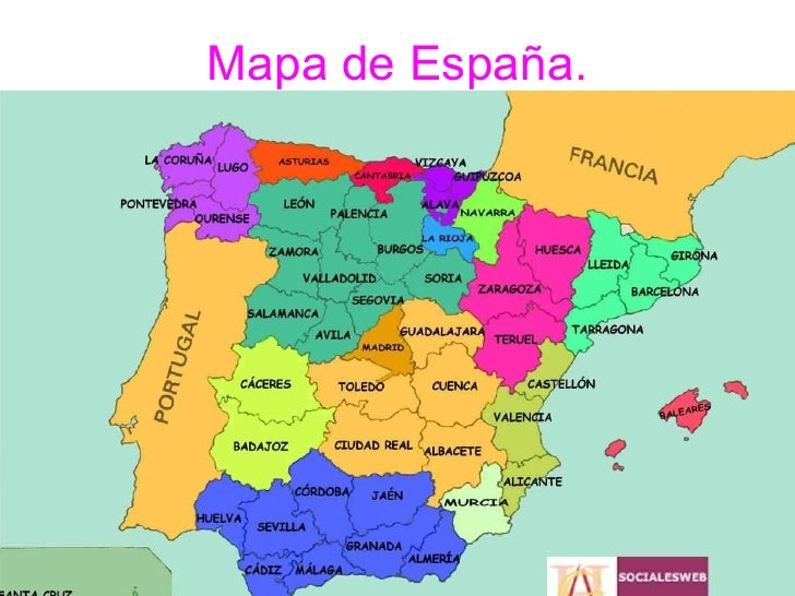 Mapa de España.