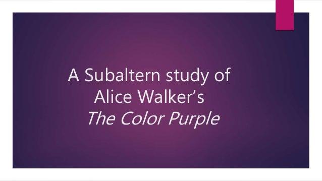 A Subaltern Study Of The Color Purple